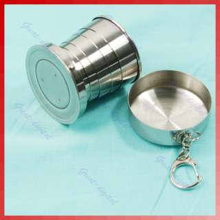 New Stainless Steel Portable Travel Cup Telescopic Mini