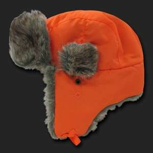 Bomber Faux Fur Winter Ski Trooper Trapper Ear Flap Hat Cap L/XL