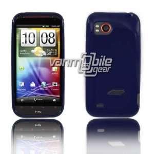 VMG HTC Rezound TPU Gel Skin Case Cover   Dark Blue Premium 1 Pc High