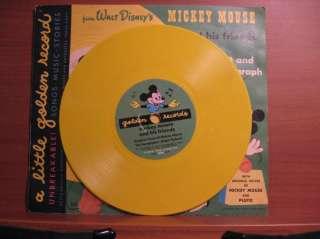 Disneys MICKEY MOUSE PLUTO & his phonograph golden record Scarce