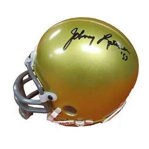 Johnny Lattner Autographed/Signed Mini Helmet Sports
