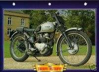 Triumph TR5 TROPHY 1951 Motorcycle Big Card Photo