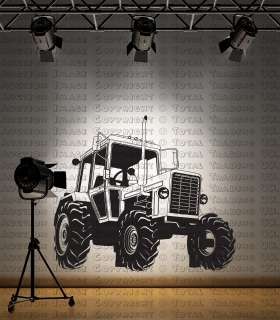 Giant Kids Tractor Farm Childrens Wall Sticker   TR1