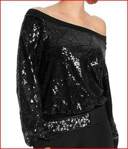 148 NEW GUESS by MARCIANO Kassia SEQUIN SWEATER TOP DRESS s 4