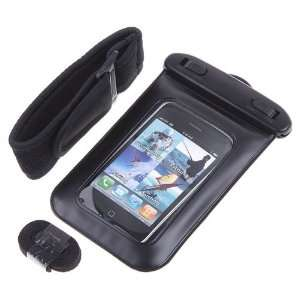 Black PVC Waterproof Case Bag for iPhone Cell Phone
