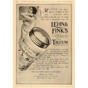 1911 Ad Lehn & Fink Riveris Talcum Powder Cosmetics   Original Print