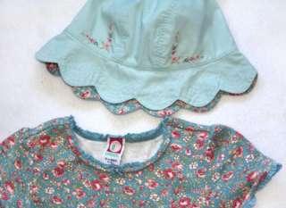 Gymboree Western Prairie Floral Dress   size xl 6 years & Hat   size L