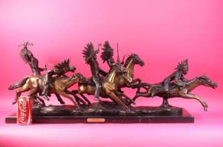 Vienna Bronze American Indian on Horse  C.Kauba Vintage