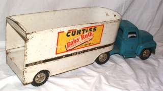 1950s GIANT BUDDY L CURTISS BABY RUTH TRUCK AND TRAILER SET