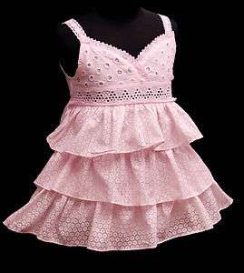 Baby Girls pink party dress size options SD114