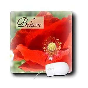 Sanders Flowers   Believe Red Poppy Flower Inspirational Quotes
