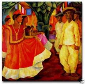 Diego Rivera Mexican Art Ceramic Tile Baile Tehuantepec