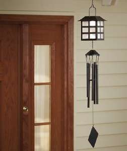 SOLAR WINDOWPANE LANTERN WIND CHIME FOR PORCH TREE 24 WINDCHIME