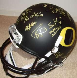 Ducks Team Signed Black FS Helmet PROOF Darron Thomas Auto Rose