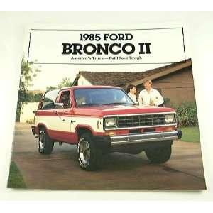 1985 85 Ford BRONCO II Truck BROCHURE XLT XLS Eddie Std
