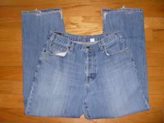 ABERCROMBIE & FITCH ♂ BAGGY FIT ♂ MENS BUTTON FLY JEANS SZ 34
