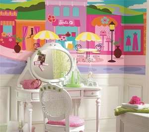 Barbie XL Mural 6 x 10.5 Giant Wall Decal Art Space sure strip