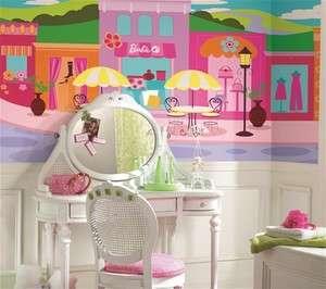 Barbie XL Mural 6 x 10.5 Giant Wall Decal Art Space sure strip