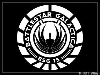 Battlestar Galactica BSG 75 Logo Decal Sticker (2x)