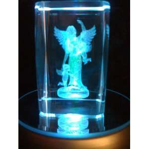 Laser Etched Crystal Cube Angel with Cherubs Everything Else