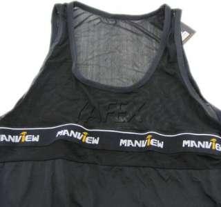 NEW Sexy Mens See thr Underwear T shirt Tank Tops Vests singlet size