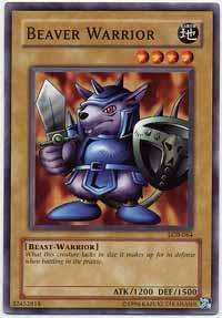 YUGIOH Beaver Warrior   LOB 064 Unlimited Mint x 3