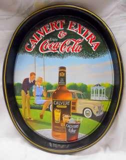 CALVERT WHISKEY AND COCA COLA serving TRAY / CALVERT & COKE / GREAT