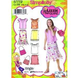 5119 Sewing Pattern Lizzie McGuire Girls Plus Skirts Tops Purse