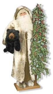 Ditz FATHER CHRISTMAS 5 Tall BEAR TRAIL CHRISTMASw/Tree & DITZ Bear