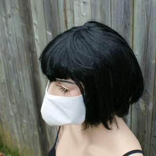 Cyber Goth Nurse Surgical Mask Cosplay White PVC Rave