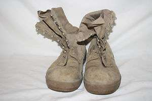US Army Military Boots Belleville Vibram Desert Tan Brown Size 10 Used