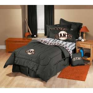 San Francisco Giants Black Denim Twin Size Comforter