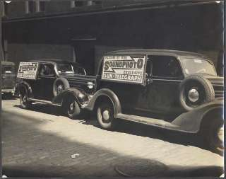 Photo Soundphoto 1935 Chevrolet Sedan 1936 Plymouth Panel Trucks