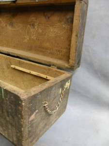 VTG TOOL BOX CHEST industrial MECHANIC carpenter case wood folk