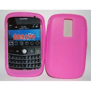 KingCase BlackBerry BOLD 9000 Silicone Skin Case (Hot Pink