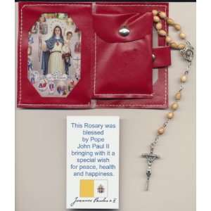 Rosary with Papal Crucifix Blessed by Pope John Paul II on