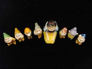 AUTHENTIC CERAMIC SET WALT DISNEY SNOW WHITE AND THE SEVEN DWARFS NR