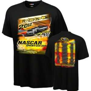 NASCAR Black 2012 Schedule Tour T Shirt