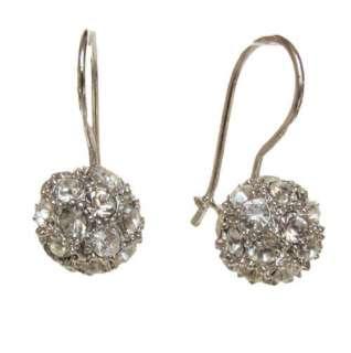 NEW SWAROVSKI hook dangle Earrings 18K white gold GP bride christams