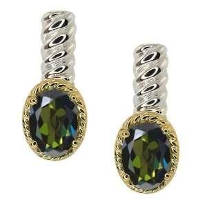 Tourmaline Green Mystic Topaz Silver 10k Yellow Gold Earrings Jewelry