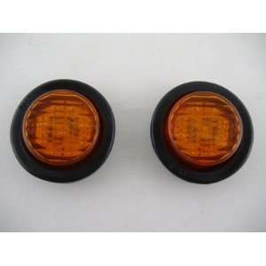 Round 9 LED Mini Custom Flasher Park Turn Signal Lights Automotive