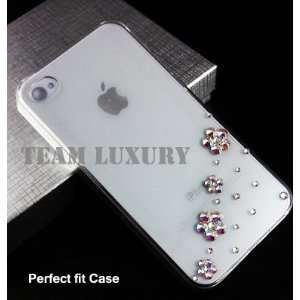 Bling Swarovski Crystal AB color Flower Rhinestone Case