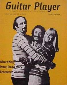 Guitar Player Magazine August 1969 Peter Paul & Mary