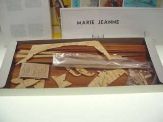 BILLING BOATS WOOD BOAT MODEL KIT MARIE JEANNE NR 468 DENMARK W