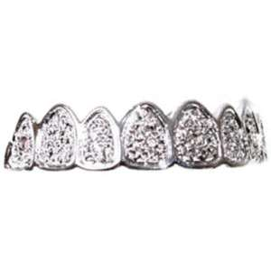 Billy Bob Teeth Platinum Grillz Fancy Dress Fake Teeth