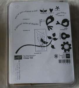 Up two step stampin CHEEP TALK bird stamp set NEW rubber stamp set