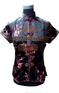 Chinese clothing blouse shirt top vest coat 060901 multi colored size