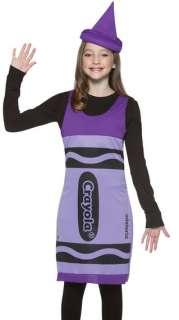 Girls Purple Crayola Crayon TWEEN Kids Halloween Costume