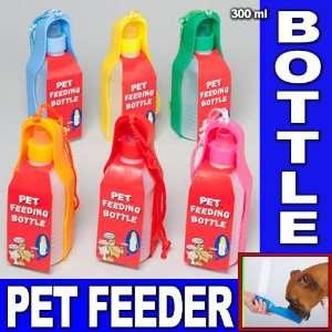 BOTTLE BOWL PORTABLE DRINK DISH CAT BIRD TRAVEL FEEDING PUPPY NEW