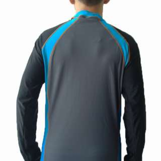 Streamline Mens Swim Surf Shirt Sun Protection Dark Grey L